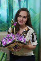 """Букет из конфет """"Очарование орхидей"""""""